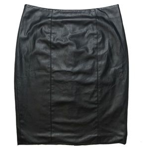 Calvin Klein | Faux Leather Pencil Skirt Lined